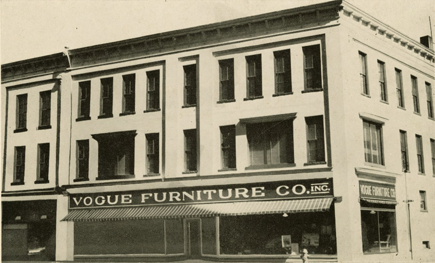 the building immediately to the east of the hackney block was the longtime home of furniture in september this building burned