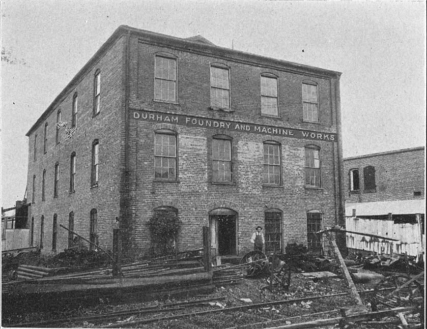 J y whitted tobacco company durham foundry and machine for Y j furniture durham nc