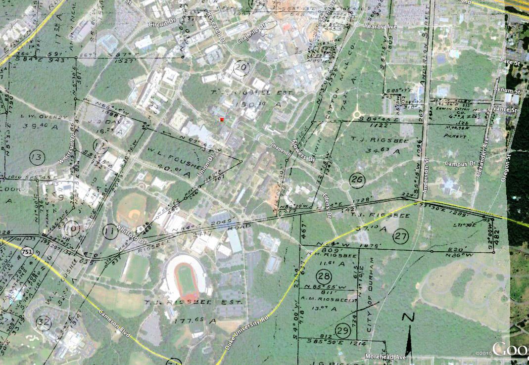 THOMAS J RIGSBEE FARM DUKE UNIVERSITY WEST CAMPUS Open Durham - Duke west campus map