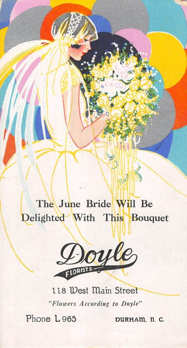 Doyle Florists Card (Courtest Mary Andersen)